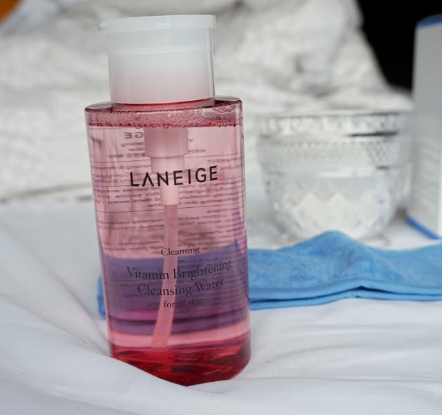 cleansing vitamin brightening cleansing water review laneige skincare products kbeauty korean