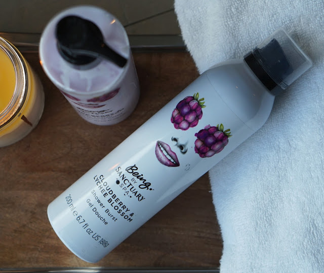 being by sanctuary spa review cloudberry lychee blossom